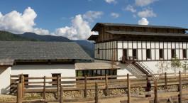 Außenansicht von Gangtey Goenpa, Gangtey, Bhutan