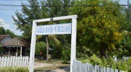 Eingang von Gili Eco Villas, Gili Trawangan, Indonesien