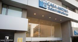 Eingang von Casa Andina Select Miraflores in Peru, Lima