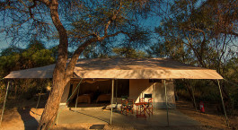 Guest tent at Amboseli Porini Adventure Camp in Amboseli, Kenya