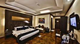 Room at hotel Amata Garden Inle in Inle Lake, Myanmar