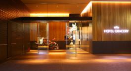 Entry hall at Gracery Shinjuku Hotel in Tokyo, Japan