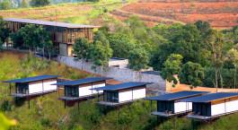 Bird's eye view of Santani Wellness Resort & Spa Hotel in Kandy, Sri Lanka