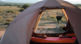 Mobile guest tent at Karisia Expedition Mobile Camp in Laikipia, Kenya