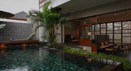 Pool at Tegal Sari Hotel in Ubud, Indonesia