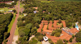 Vogelperspektive des San Martin Foz do Iguacu Hotel in Foz do Iguaçu, Brasilien