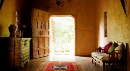 Rezeption im Hotel Kasbah Azul, Skoura in Morocco