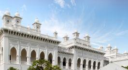Enchanting Travels - Südindien Reisen -  Hyderabad -  Taj Falaknuma Palace -  Außenansicht