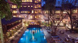 Pool at Hotel Dwarikas in Kathmandu, Nepal