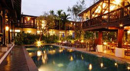 Pool at hotel Banthai Village in Chiang Mai, Thailand