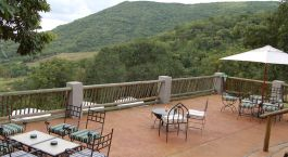 Terrace at Chestnut Country Lodge in Hazyview, South Africa