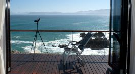 Balcony at Cliff Lodge Ocean Front Retreat Hotel in Overberg, South Africa