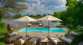 Pool at hotel Kanyemba Lodge in Lower Zambezi, Zambia