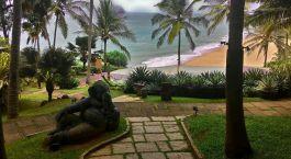 Outdoor area at Niraamaya Retreats Surya Samudra in Trivandrum, India