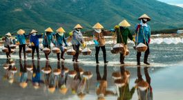 Salzfarm in Nha Trang, Vietnam