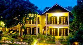 Außenansicht im La Maison dAngkor Hotel in Siem Reap, Kambodscha
