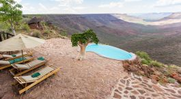 Exterior Pool at Grootberg Lodge in Damaraland (Palmwag), Namibia