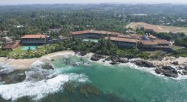 Bird's eye view of Jetwing Lighthouse in Galle, Sri Lanka