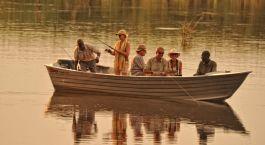 Our guests fishing at Kanga Camp in Mana Pools, Zimbabwe