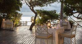 Abendessen im Freien im Anantara Bazaruto Resort & Spa in Bazaruto - Vilanculos, Mosambik