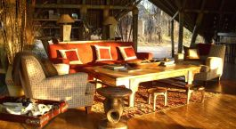 Lounge at hotel Jongomero in Ruaha, Tanzania