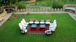 Garden at hotel Mihirgarh, Rohet, North India