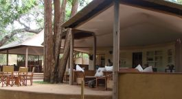Lounge area at Rhino River Camp in Meru National Park, Kenya