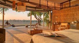 Zimmer im Hotel Chinzombo Lodge in Sambia, South Luangwa
