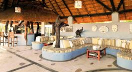 Lounge at Kafunta River Lodge in South Luangwa, Zambia