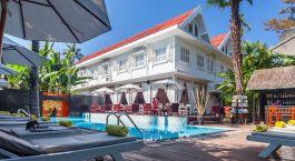 Pool im Maison Souvannaphoum Hotel , Luang Prabang, Laos
