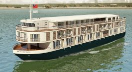 Exterior view of Paukan Cruise in Mandalay/Ayeryaddy, Myanmar