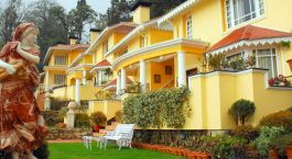 Exterior of the Mayfair hotel in Darjeeling, India