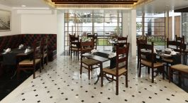 The dining room at Eighth Bastion hotel in Cochin, South India