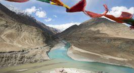 Grandioses Panorama in Leh, Indien