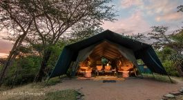 Lounge area at Masai Mara Porini Adventure Camp in Masai Mara, Kenya