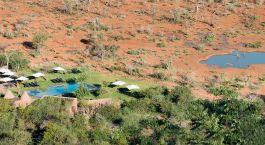 Luftaufnahme einer Lodge