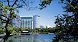 Exterior view of Conrad Tokyo Hotel in Tokyo, Japan