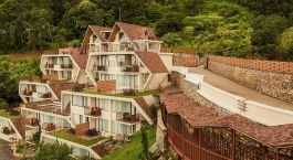 Exterior view of Mystic Mountain Hotel in Nagarkot, Nepal