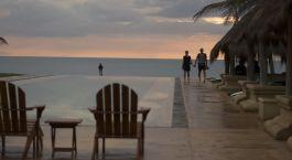 Pool at Bar Reef Resort Hotel in Kalpitiya, Sri Lanka