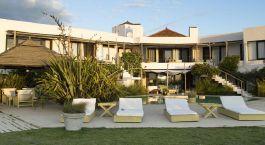 Außenansicht des Posada del Faro Hotel in José Ignacio, Uruguay