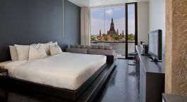 Deluxe Zimmer mit Flussblick im Sala Ayutthaya Hotel in Ayutthaya, Thailand