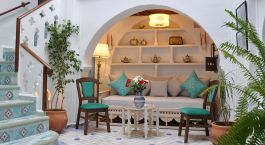 Lounge area at Riad Chérifa in Chefchaouen, Morocco