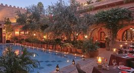 Enchanting Travels Morocco Tours Marrakech Hotels La Maison Arabe restaurant pisc-38