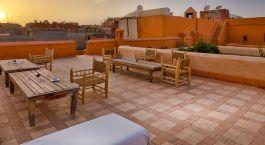 Roof terrace at Riad Dar Sara Hotel in Marrakech, Morocco