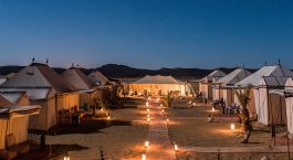 Tents at Desert Luxury Camp in Merzouga, Morocco