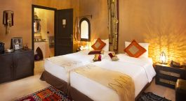 Double room at Riad Ksar Ighnda Hotel in Ouarzazate, Morocco