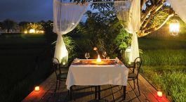 Outdoor dinner at Plataran Ubud Hotel & Spa in Ubud, Indonesia