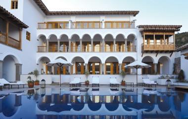 Außenpool im Hotel Belmond Palacio Nazarenas, Cusco, Peru