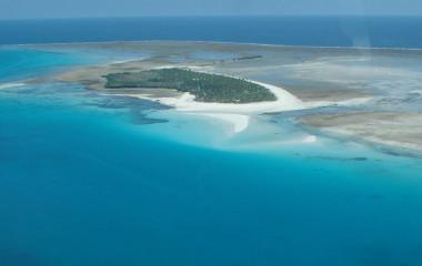 Bird's eye view of an island, Tanzania