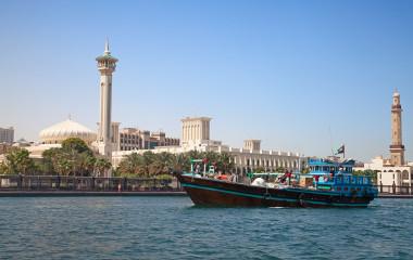 Trraditional boat on the Dubai creek